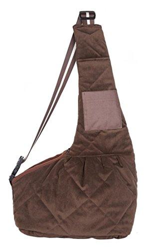 New Arrival Cotton Blended Pet Sling Dog Cat Carrier Bag (Buffalo Plaid Pet Carrier)