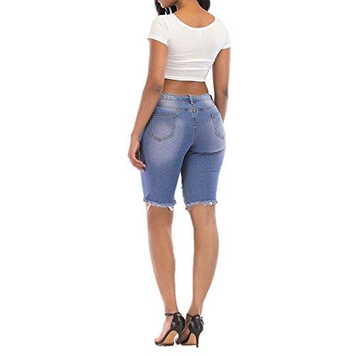 Color Jeans main Blue femme lavs L personnalit Blue pour la Trendy Size de AOAXr8