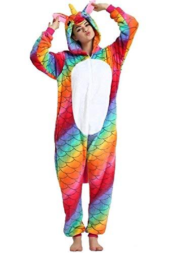 QingLemon Adult Warm Animal Onesie Cute Teens Sleepwear Cosplay Pajamas Costume Homewear Lounge Wear (L, N-Ripple) ()