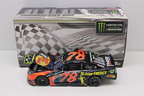 Lionel Racing Martin Truex Jr 2018 Fontana Auto Club Win Bass Pro Shops Raced Version NASCAR Diecast Car 1:24 Scale (Fan Club Nascar)