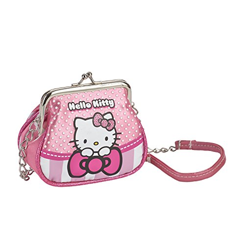 Karactermania Hello Kitty Borsa Messenger, 11 cm, Rosa