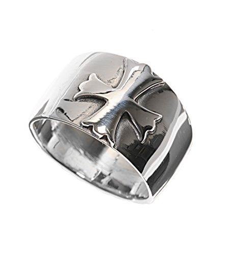 - Princess Kylie 925 Sterling Silver Elegant Cross Ring Size 9