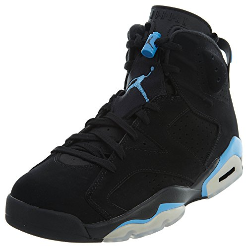 Jordan Nike Mens Air 6 Scarpa Da Basket Retrò Nera / Blu Università