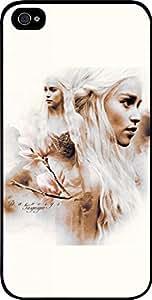 Daenerys Targaryen Sepia Art- Hard Black Plastic Snap - On Case-Apple Iphone 4 - 4s - Great Quality!