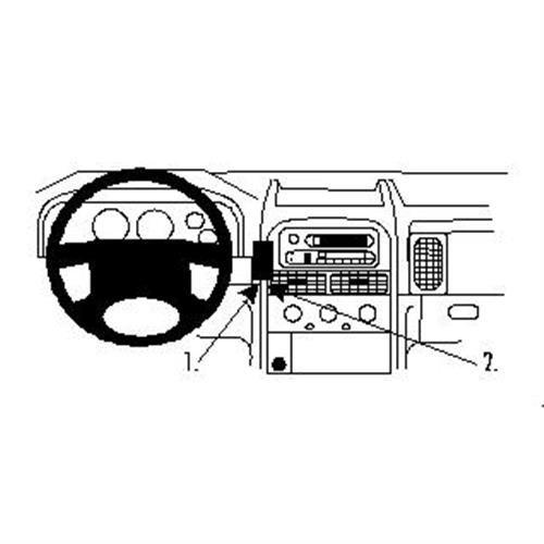 Brodit ProClip 852650 Staffa per auto ad incastro, Angled mount