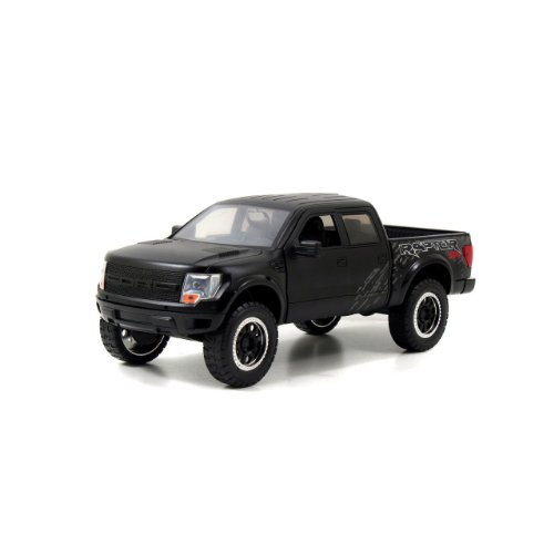 - Jada 2011 Ford F150 SVT Raptor Pickup Truck 1/24 Diecast Model Car Matte Black