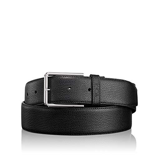 Tumi Leather Belt - TUMI - Textured Leather Reversible Belt for Men - Size 44 - Black