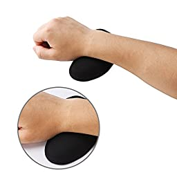 eBoot Keyboard Wrist Rest and Silica Gel Mouse Wrist Rest Support, Ergonomic Wrist Support Cushion with Memory Foam for Computer and Laptop
