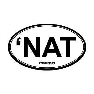 'NAT Sticker - White - Oval Bumper Sticker from CafePress