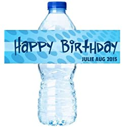 Happy Birthday Personalized Birthday Party Decorations - Water Bottle Labels Stickers