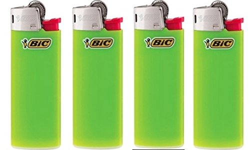 BIC Lot of 4 Mini Lime Green Lighters ()