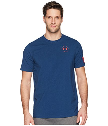 Under Armour Men's Freedom Flag Tee Blackout Navy/Red -