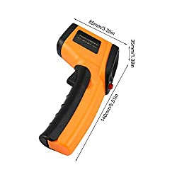 QYEND Non Contact Temperature Gun,Digital Infrared Thermometer Instant-Read -50 ?to 400?with LED Display for Kitchen Cooking and Industrial Thermometer