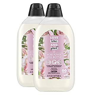 Love Home and Planet Ultra Concentrated Laundry Detergent, Rose Petal & Murumuru, 23 oz, 2 Pack (132 Loads)