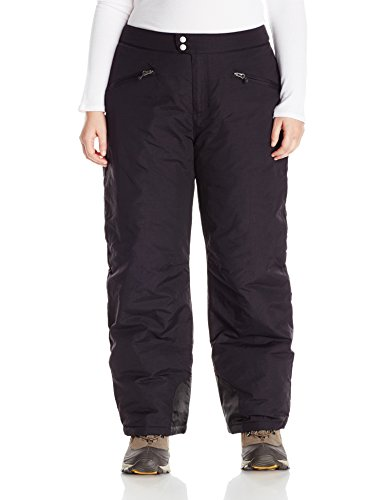 White Sierra Women's Plus Size Toboggan Insulated Pants, Black, 3X ()