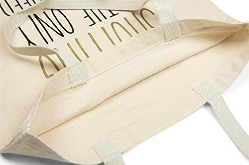 styleBREAKER bolsa para compras con frase estampada «SHOPPING IS THE ONLY SPORT I NEED», bolsa, bolsa de tela, bolso, unisex 02012204, color:Crema-Beige Crema-Beige