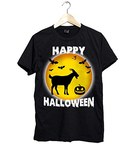 Amazing Happy Halloween goat shirt - Funny Gift for goat Lovers this Halloween- Unisex Style Size Up to 6XL - Fast Shipping ()