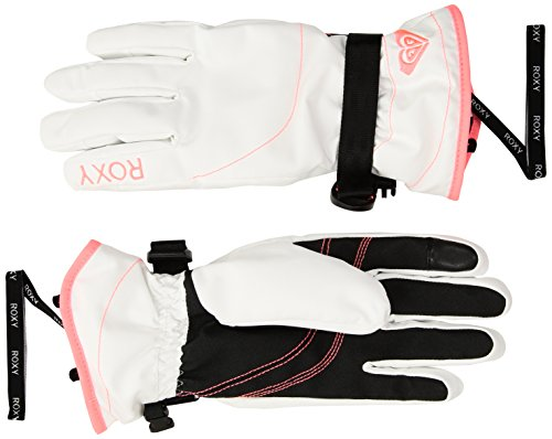 Roxy SNOW Women's Junior Roxy Jetty Solid Gloves Accessory, -bright white, - Jetty Apparel