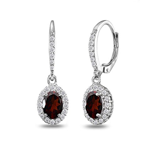 Garnet Dangling Earrings - 9