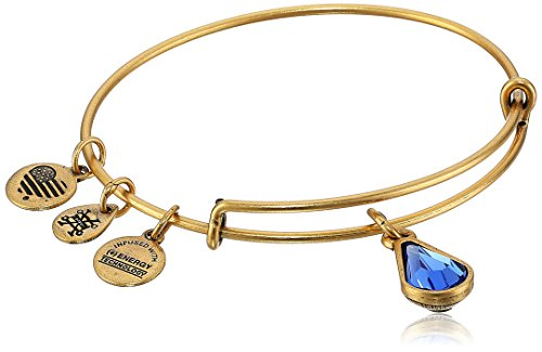 Alex and Ani September Birth Month Charm with Swarovski Crystal Rafaelian Gold Bangle Bracelet