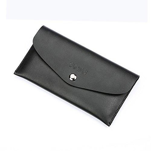 SOYAN Envelope Style Leather Wallet Pouch Phone Tasche Hüllen Schutzhülle - Case für iPhone 7/6s/6 Etc - schwarz