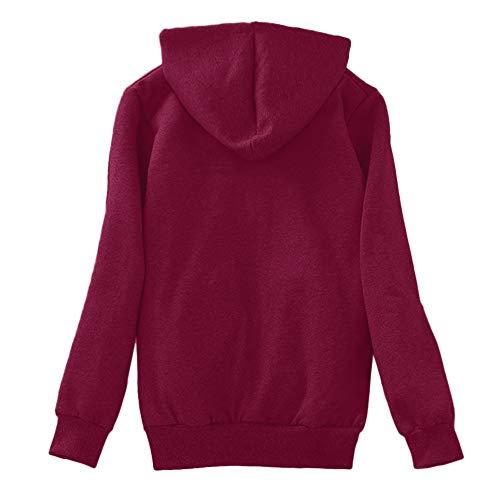 Morecome Women's Winter Coat, Fleece Sherpa Lined Hooded Sweatshirt Full Zip Warm Outwear Jacket