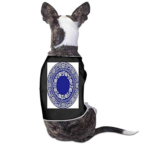 - StyleDirect Dog Pajamas, Large Dog Clothes Dog Pajamas Post Surgery Wear,Blue and White Porcelain Dog Shirt for Labrador Doberman(Black)-M