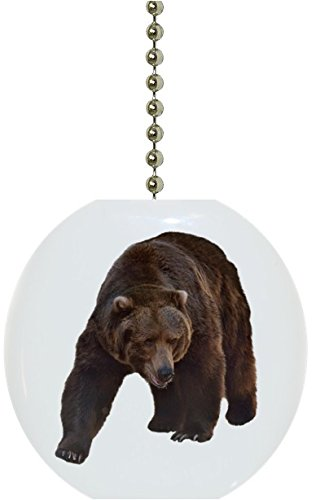 Grizzly Bear Solid Ceramic Fan Pull
