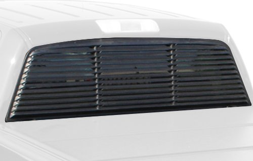 Willpak Industries 8064 ABS Low Profile Design Truck Rear Window Louver for Ford (Truck Window Louvers)