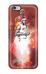 Durable Defender Case For Iphone 6 Plus Tpu Cover(miami Heat - Lebron James)
