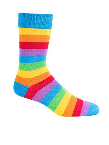 Men's Rainbow Colored Socks,Rainbow,One -