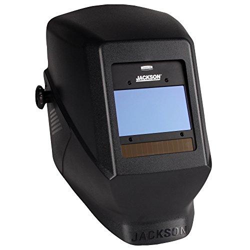 Jackson Safety Insight Variable Auto Darkening Welding Helmet, HSL100 (46129), Black, 1 Helmet / Order (Best Cheap Auto Darkening Welding Helmet)