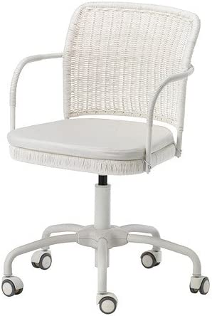 IKEA GREGOR Chaise pivotante, blanc Vittaryd, Blekinge