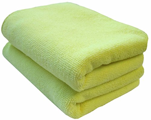 Extra Large Microfiber Cloths, Pack of 2, Drying and Cleaning Cloths, Ideal for Large Areas and Cars