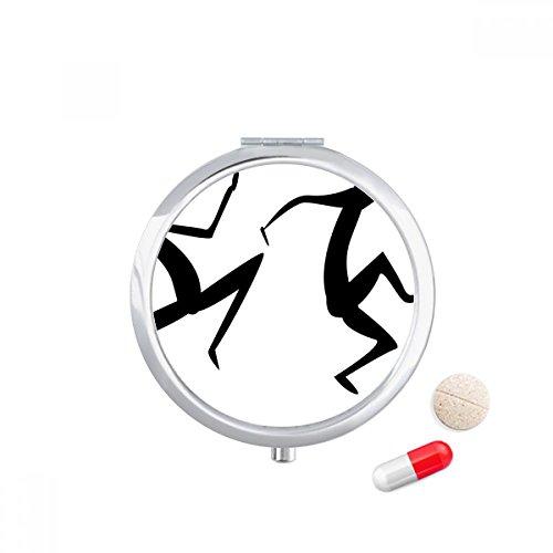 Egypt Dance Totem Abstract Fresco Funny Travel Pocket Pill case Medicine Drug Storage Box Dispenser Mirror Gift by DIYthinker (Image #2)