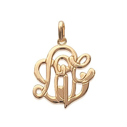 MARY JANE - Pendentif plaqué Or Femme/Homme - Larg:21mm / Haut:22mm - Plaqué or (Love)