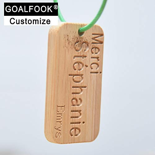 Key Chains - GF036 Natural Key Holder Keychain for Brand Engraving Words and Logo Custom Keychain Customized with own Logo - by Mct12-1 PCs ()