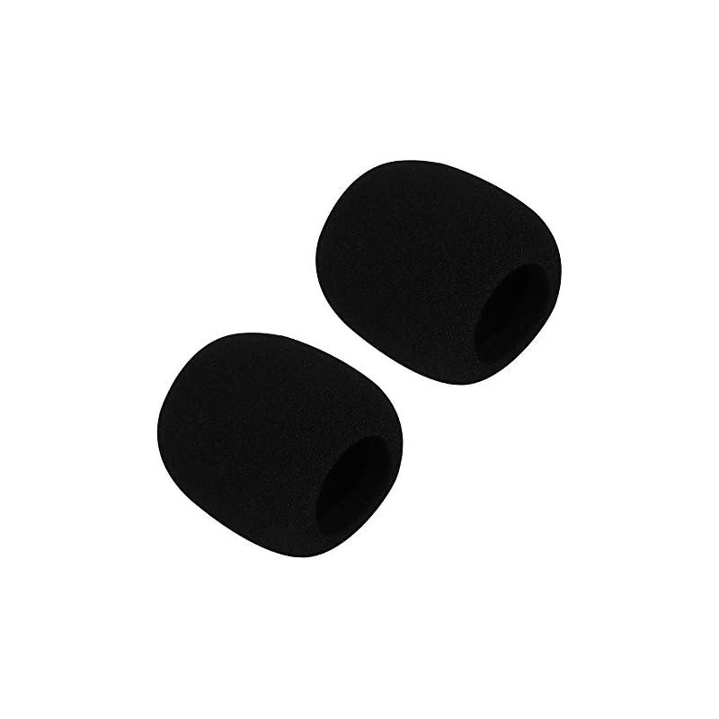 Simtyso Black 2 Pack Foam Mic Cover Handheld Microphone Windscreen