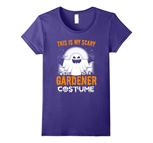 Gardener Costume (Womens This Is My Scary Gardener Costume Halloween 2017 Shirt Large Purple)