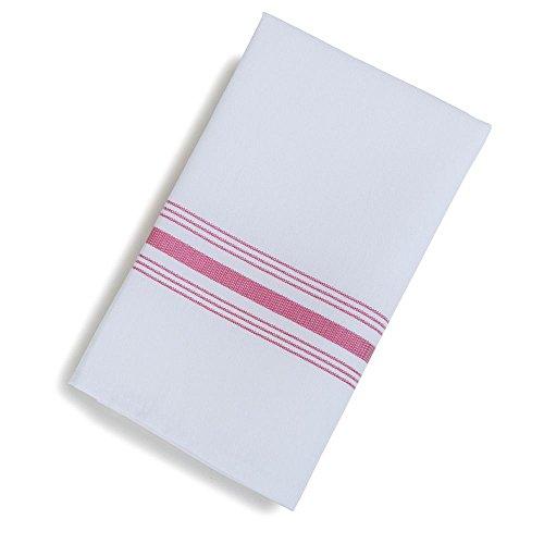 Marko 53771822NH001 Softweave Red Stripe Bistro 18 x 22 Napkin - -