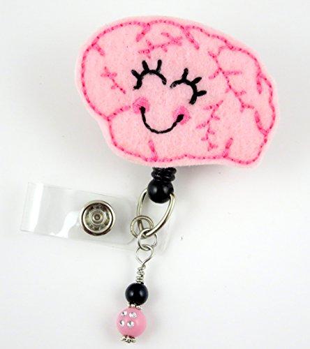 Cute Brain Girl - Nurse Badge Reel - Retractable ID Badge Holder - Nurse Badge - Badge Clip - Badge Reels - Pediatric - RN - Name Badge Holder