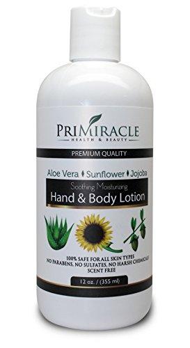 La main naturelle et lotion pour le corps avec du beurre de karité et l'aloès. Lotion pour le corps le meilleur pour tous les Types de peau. Ligne pour les professionnels de PriMiracle