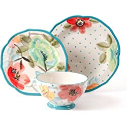 12-Piece Decorated Dinnerware Set in Vintage Bloom