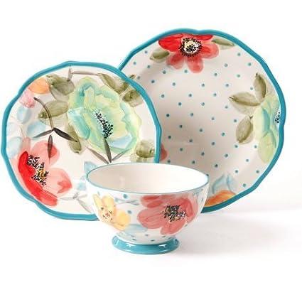 The Pioneer Woman Vintage Bloom 12-Piece Decorated Dinnerware Set  sc 1 st  Amazon.com & Amazon.com | The Pioneer Woman Vintage Bloom 12-Piece Decorated ...