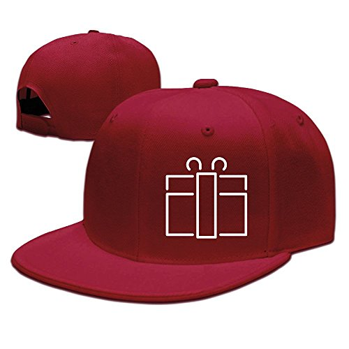XiaoHans Men's Gift Casual Style Football Red Hat Adjustable Snapback
