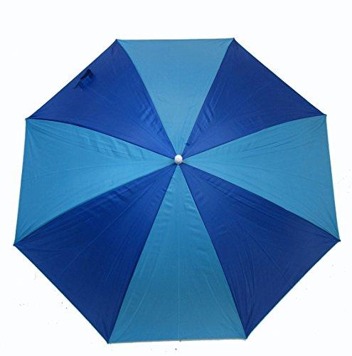 Price comparison product image JGR Clip on Polyester Umbrella (Blue on Blue Stripe)
