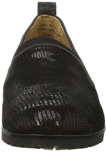 Reptile Black Mocasines Black mujeres Zwart Caprice 010 para 24351 4 UK de qUzCwqv74n