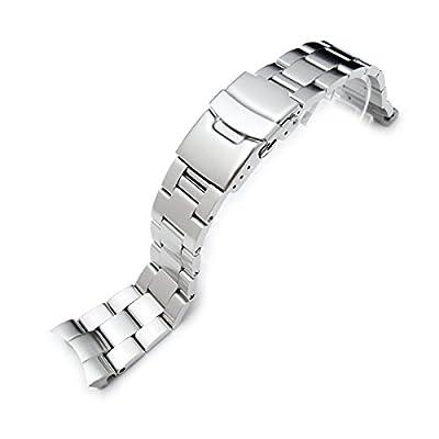 22mm Super Oyster II Watch Bracelet for Seiko Diver Skx007/009/011 Curved End