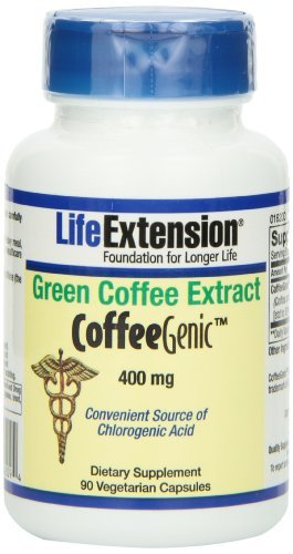 CoffeeGenic Green Coffee Extract 400 mg - 90 - VegCap (Pack of 3) by Life Extension (Image #1)