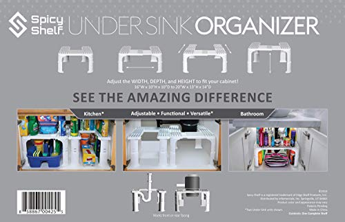 Kitchen Expandable Under Sink Organizer and Storage I Bathroom Under the Sink Organizer Kitchen Under Sink Shelf I Cleaning… under-sink organizers